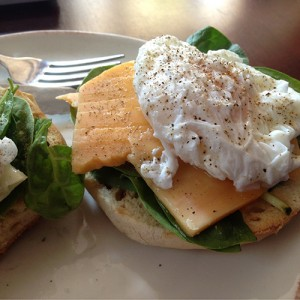 Open-faced Poached Egg Sandwich