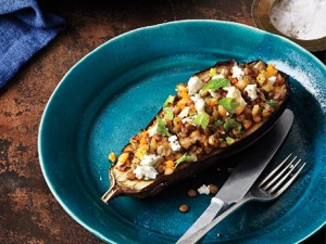 Turkey Stuffed Eggplant